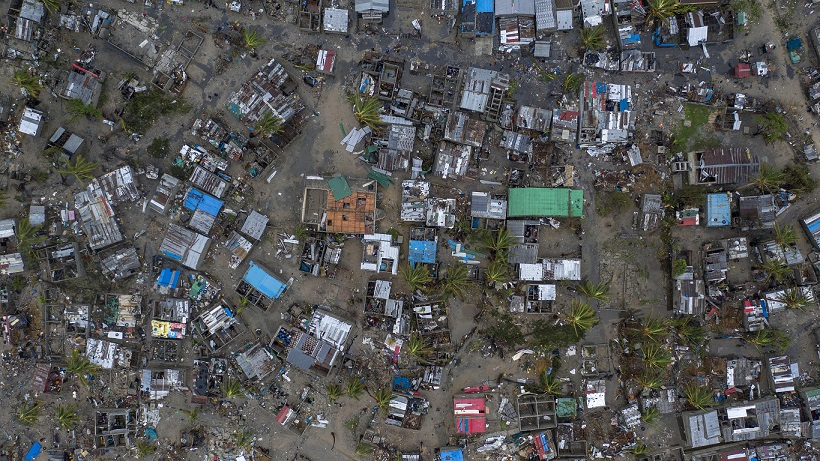 epaselect epa07447948 A handout photo made available by CARE, an international humanitarian agency shows the drone footage of a general aerial view of the damaged Praia Nova Village, after Cyclone Idai made landfall in Sofala Province, Central Mozambique, 17 March 2019. (Issued on 19 March 2019). Nhamudima, is a slum that was heavily affected by the cyclone in the city of Beira ( only). Being located near the coast, this shanty town of loosely built homes were extremely vulnerable to the high winds and rain. A Category 4 Cyclone named Idai made land fall wreaking havoc knocking out power across the province and impacting every resident in Central Mozambique. EPA/JOSH ESTEY / CARE / HANDOUT MANDATORY CREDIT: WWW.CARE.DE HANDOUT EDITORIAL USE ONLY/NO SALES